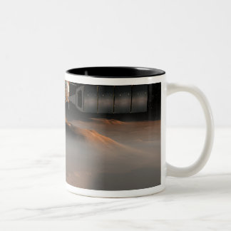 Artist's concept of Mars Express spacecraft Two-Tone Coffee Mug