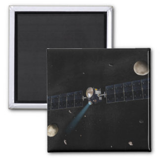 Artist's concept of the Dawn spacecraft in orbi 2 Inch Square Magnet