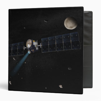 Artist's concept of the Dawn spacecraft in orbi Binder