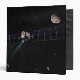 Artist's concept of the Dawn spacecraft in orbi Binders
