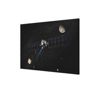 Artist's concept of the Dawn spacecraft in orbi Canvas Print