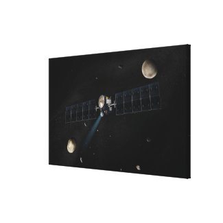Artist's concept of the Dawn spacecraft in orbi Canvas Print