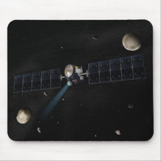 Artist's concept of the Dawn spacecraft in orbi Mouse Pad