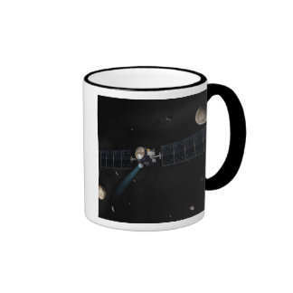 Artist's concept of the Dawn spacecraft in orbi Ringer Coffee Mug