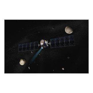 Artist's concept of the Dawn spacecraft in orbi Photo Print