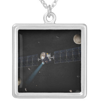 Artist's concept of the Dawn spacecraft in orbi Silver Plated Necklace