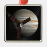Artist's concept of the Juno spacecraft Metal Ornament