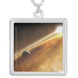 Artist's concept of the star Fomalhaut Custom Necklace