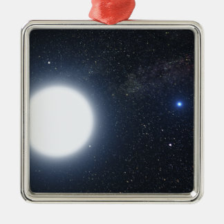 Artist's concept showing the binary star system square metal christmas ornament