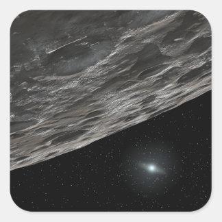 Artist's Conception of a Kuiper Belt Object Square Sticker