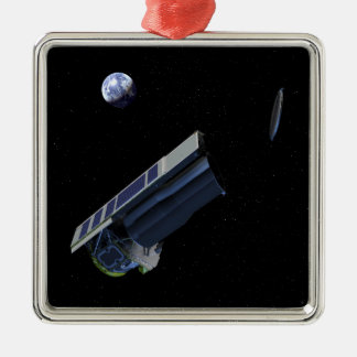 Artists conception of Spitzer Square Metal Christmas Ornament