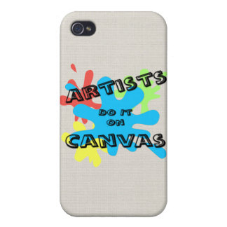 Artists do it on Canvas  iPhone 4/4S Cover