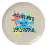 Artists Do it on Canvas Party Plate