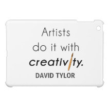 Artists do it with creativity cover for the iPad mini