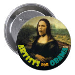 Artists for Obama: The New Mona Lisa 3 Inch Round Button