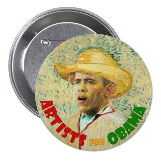 Artists for Obama: Vincent Van Gogh 3 Inch Round Button