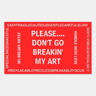 Artist's Fragile Sticker