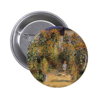 Artist's Garden at Vetheuil by Claude Monet 2 Inch Round Button