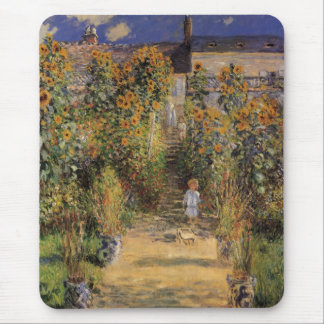 Artist's Garden at Vetheuil by Claude Monet Mouse Pad