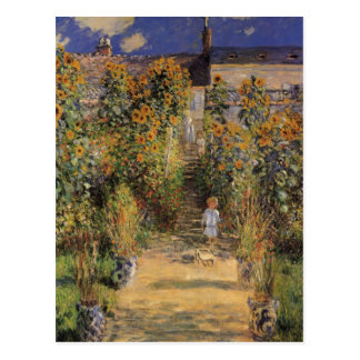 Artist's Garden at Vetheuil by Claude Monet Postcard