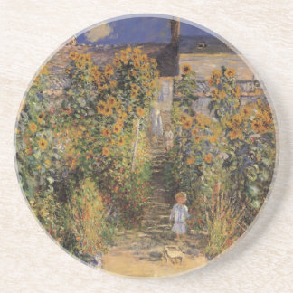 Artist's Garden at Vetheuil by Monet, Vintage Art Drink Coasters