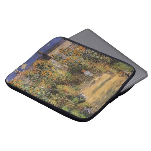 Artist's Garden at Vetheuil by Monet, Vintage Art Laptop Computer Sleeves