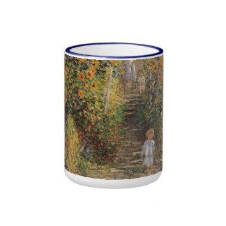 Artist's Garden at Vetheuil by Monet, Vintage Art Mug
