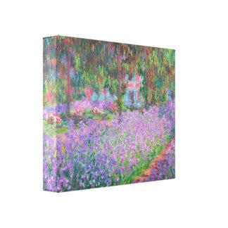 Artists Garden by Claude Monet Canvas Print