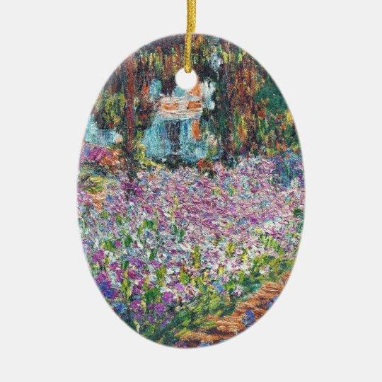 Artist's Garden Giverny Ceramic Ornament