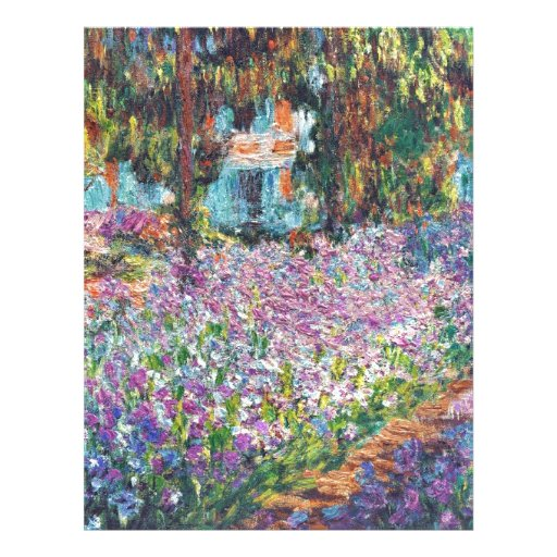 Artist's Garden Giverny Personalized Letterhead