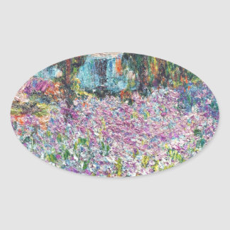 Artist's Garden Giverny Oval Sticker