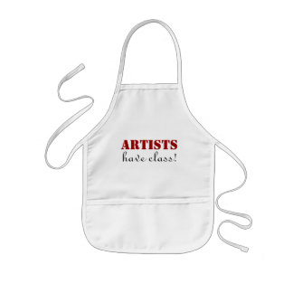 Artists have Class Art Class and Crafts Kids' Apron