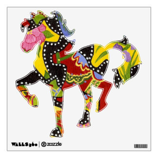 Artist's horse wall decal
