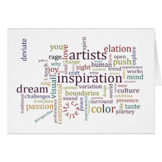 Artists Inspiration Note Card