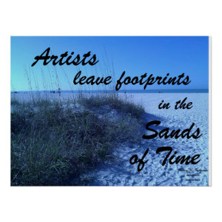 ARTISTS LEAVE FOOTPRINTS CUSTOM POSTER