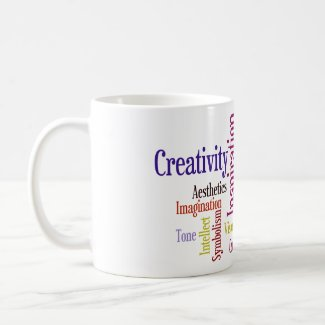 Artist's Mug - Inspiration, Creativity Word Cloud mug