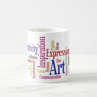 Artist's Mug - Inspiration, Creativity Word Cloud