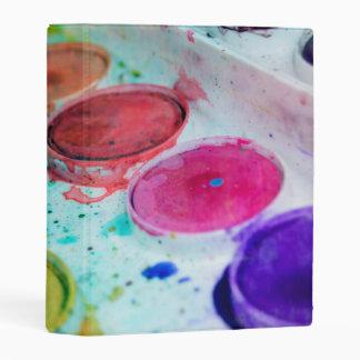 Artists Multicolored Watercolor Paint Palette Mini Binder