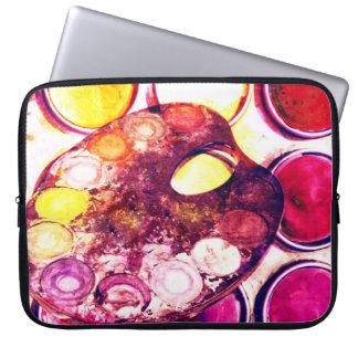 Artist's paint palette laptop sleeve