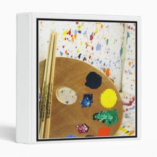 Artists Paint Splatter And Pallet of Paint Vinyl Binder