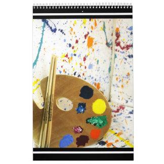 Artists Paint Splatter And Pallet of Paint Calendar
