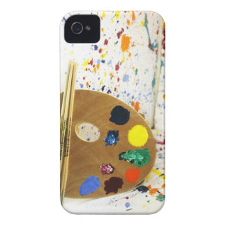 Artists Paint Splatter And Pallet of Paint iPhone 4 Cases
