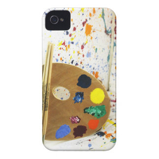 Artists Paint Splatter And Pallet of Paint Case-Mate iPhone 4 Cases