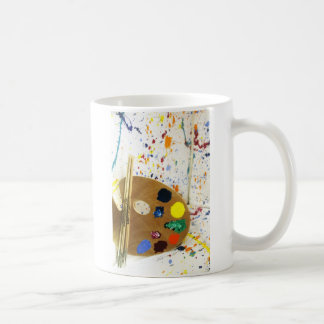 Artists Paint Splatter And Pallet of Paint Coffee Mug