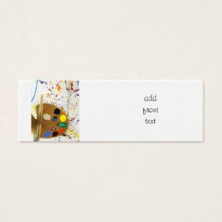 Artists Paint Splatter And Pallet of Paint Mini Business Card