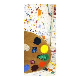 Artists Paint Splatter And Pallet of Paint Rack Card