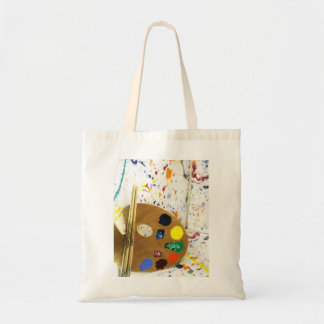 Artists Paint Splatter And Pallet of Paint Tote Bag