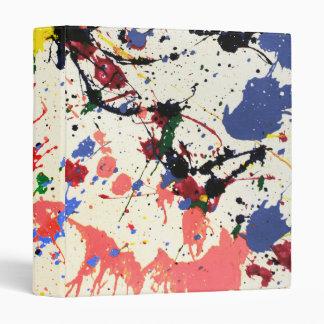 Artists Paint Splatter Background 3 Ring Binder