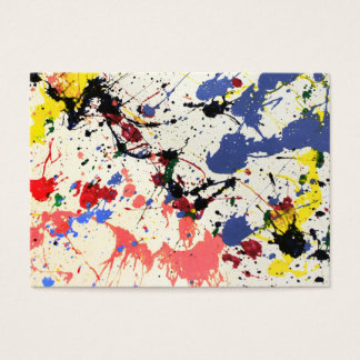 Artists Paint Splatter Background Business Card