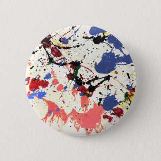 Artists Paint Splatter Background Button